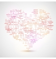 Heart shape from letters - typographic composition vector image vector image