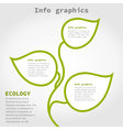 Info graphic plant vector image