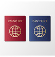 international passport on white background vector image vector image