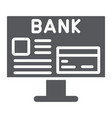 internet banking glyph icon finance and payment vector image vector image