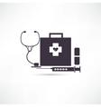 Items medicine icon vector image