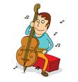 Man playing cello vector image
