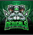 medicals esport mascot logo vector image