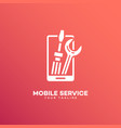 mobile service logo vector image vector image