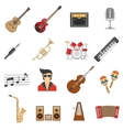 Music Icons Flat vector image vector image