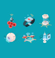 nanotechnology isometric bio modern medical vector image vector image