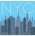nyc- panorama new york city vector image vector image