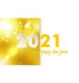 pf 2021 happy new year golden vector image