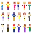 pixelized people vector image