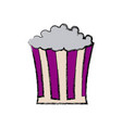 pop corn box snack food icon vector image vector image