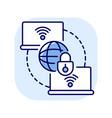 private wan blue rgb color icon vector image