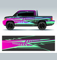 racing car decals sport vehicle vinyl stickers vector image