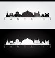 santa fe usa skyline and landmarks silhouette vector image vector image