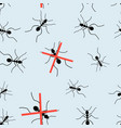 seamless graphic pattern for packaging from ants vector image vector image