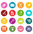 seo icons many colors set vector image