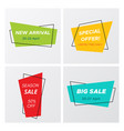 set of 4 modern sale tags with promo offers vector image vector image