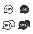 sms icon set vector image vector image
