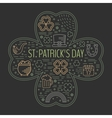 st patricks day colorful line icons set vector image
