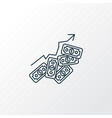 successful investment icon line symbol premium vector image
