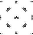 taj mahal pattern seamless black vector image vector image
