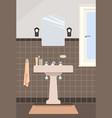 typical vintage bathroom vector image