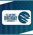 us air force birthday september 18 holiday vector image vector image