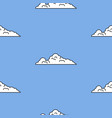 vintage game art background style blue sky and vector image