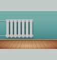 vintage metal heating radiator in room vector image vector image