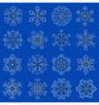vintage snowflake set in zentangle style 16 vector image vector image