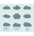 weather icons set Clouds and rain vector image vector image