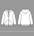 Zip-up oversized cotton-fleece hoodie technical