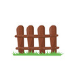 little farm fence made of brown planks bright vector image