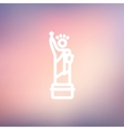 Statue Of Liberty thin line icon vector image