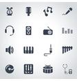 black music icon set vector image