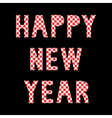 Happy new year greeting card3 vector image