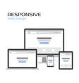 concept responsive web design landing page vector image