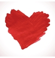 Hand-drawn painted red heart element vector image