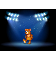 A stage with a bear dancing at the center vector image vector image