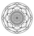 abstract cute mandala vector image vector image