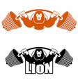 angry leo strong athlete barbell and aggressive