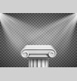 antique column pillar pedestal with spotlights vector image vector image