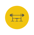 Barbell on a stand vector image vector image