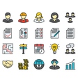 Business Colored Icons vector image vector image