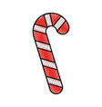 candy stick cane decoration sugar sweet striped vector image