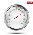 Classic round scale Speedometer vector image vector image