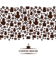 coffee horizontal vector image vector image