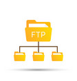 color ftp protocol simple icon concept of vector image