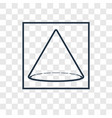 cone concept linear icon isolated on transparent vector image