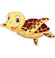Cute baby turtle cartoon vector image vector image