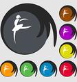 Dance girl ballet ballerina icon Symbols on eight vector image